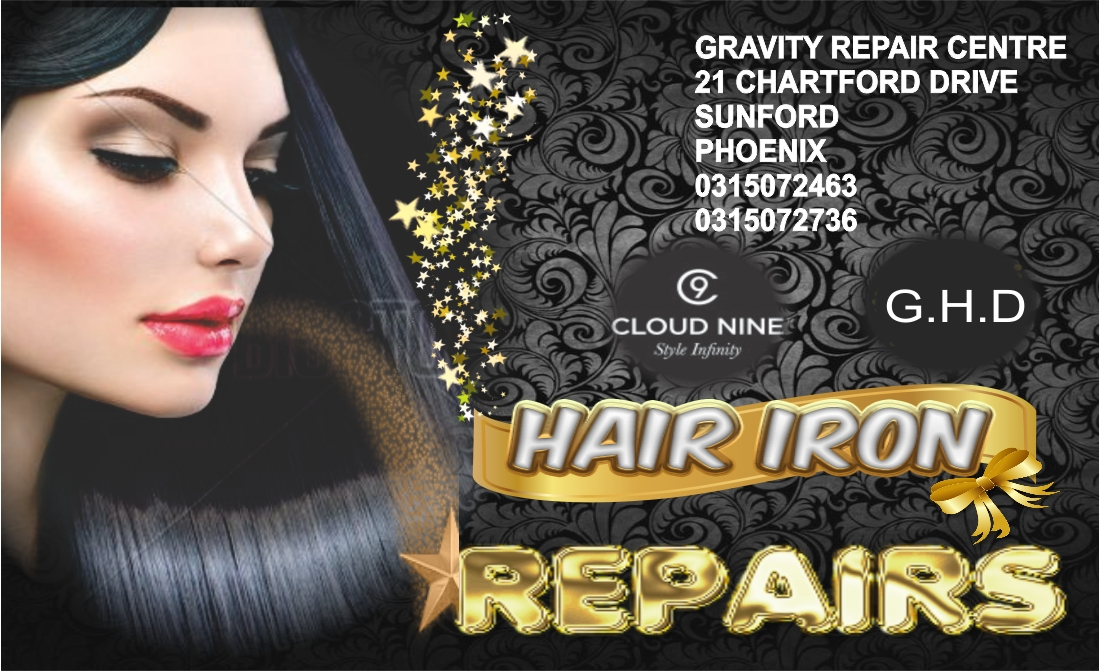 epairs professionally done at GRAVITY audio phoenix durban. The only service provider in durban dedicated to the repairing & servicing of broken & damaged ghd hair irons. Gravity repair centre for all ghd hair irons durban kzn  Authorised ghd iron repair centre, situated in phoenix Durban, GRAVITY AUDIO tel 0315072463 Replacement circuit boards for ghd hair irons available at Gravity audio phoenix Durban.  ghd hair iron repairs   ghd hair irons repair store durban phoenix gravity audio 0315072463  cloud 9 hair iron repairs store  cloud nine hair irons repairs durban  cloud nine hair iron repair shop phoenix durban gravity audio  ghd repairs cloud 9 hair iron repairs
