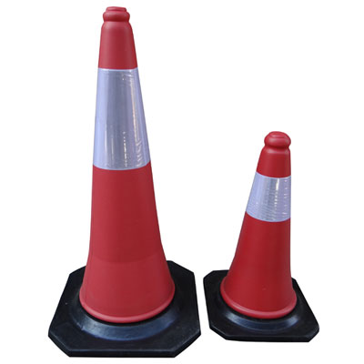 -pvc-traffic-cones-500-mm-with-reflective-tape-&amp-black-rubber-base