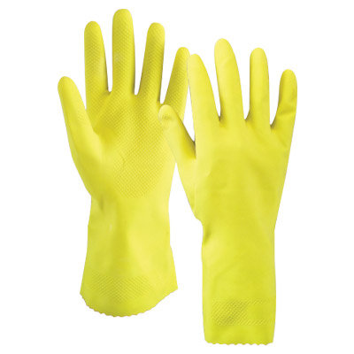 yellow-household-gloves-with-flock-line