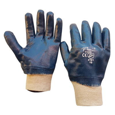 blue-nitrile-knitted-cuff-gloves