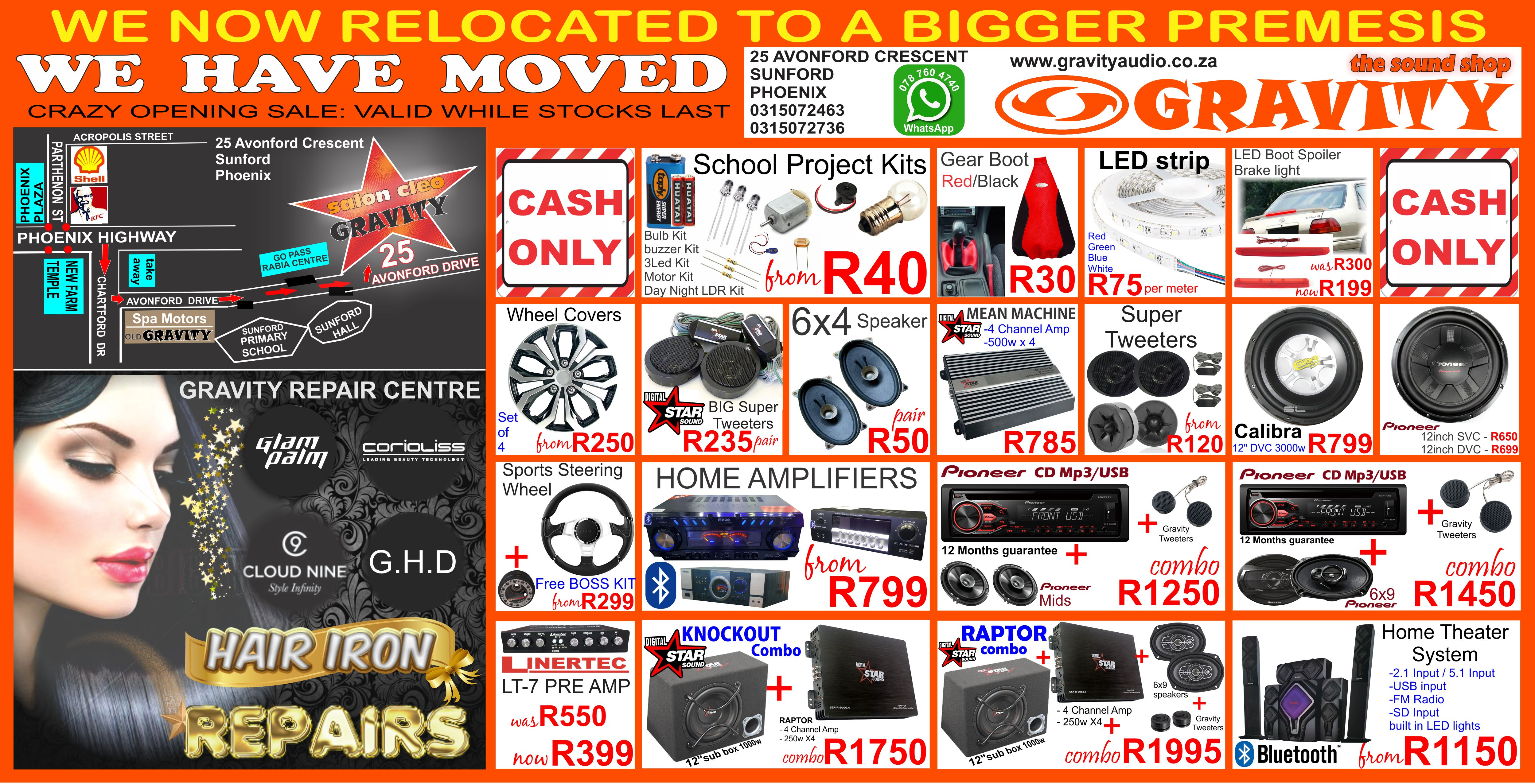 multimedia sound dj car combos car sound combos selfie sticks car garmen holder usb sticks memory cards gravity sound and lighting warehouse durban 0787604740 dj equipment home theater sytems 5.1 speakers wireless keyboards wireless mouse for computer fishing light battery downlight bulbs home downlight bulbs aux cable car mats set of 4 car accessories only at gravity sound and lighting warehouse durban phoenix