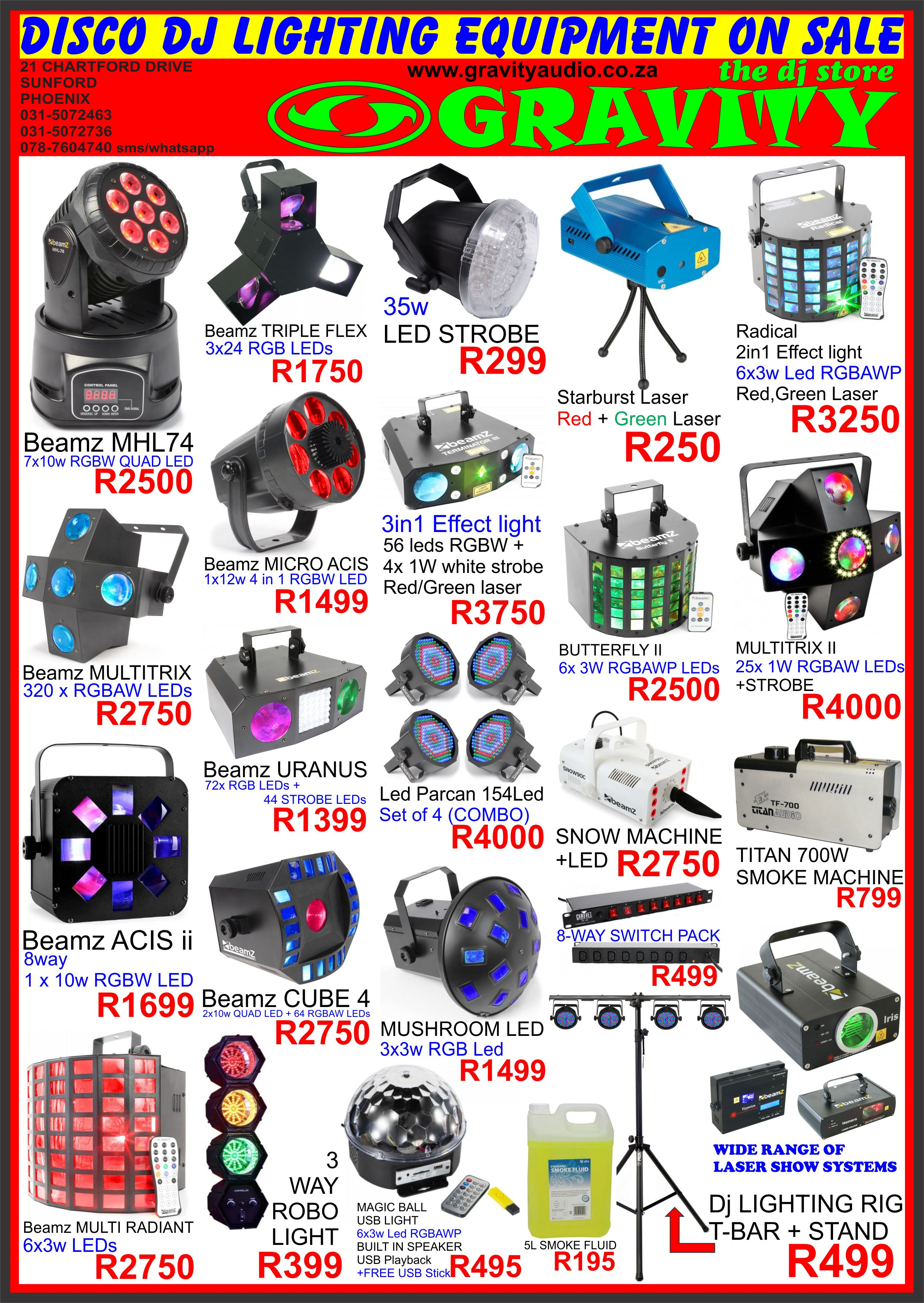 gravity audio sound and lighting warehouse car audio dj disco lighting equipment multimedia 0315072463