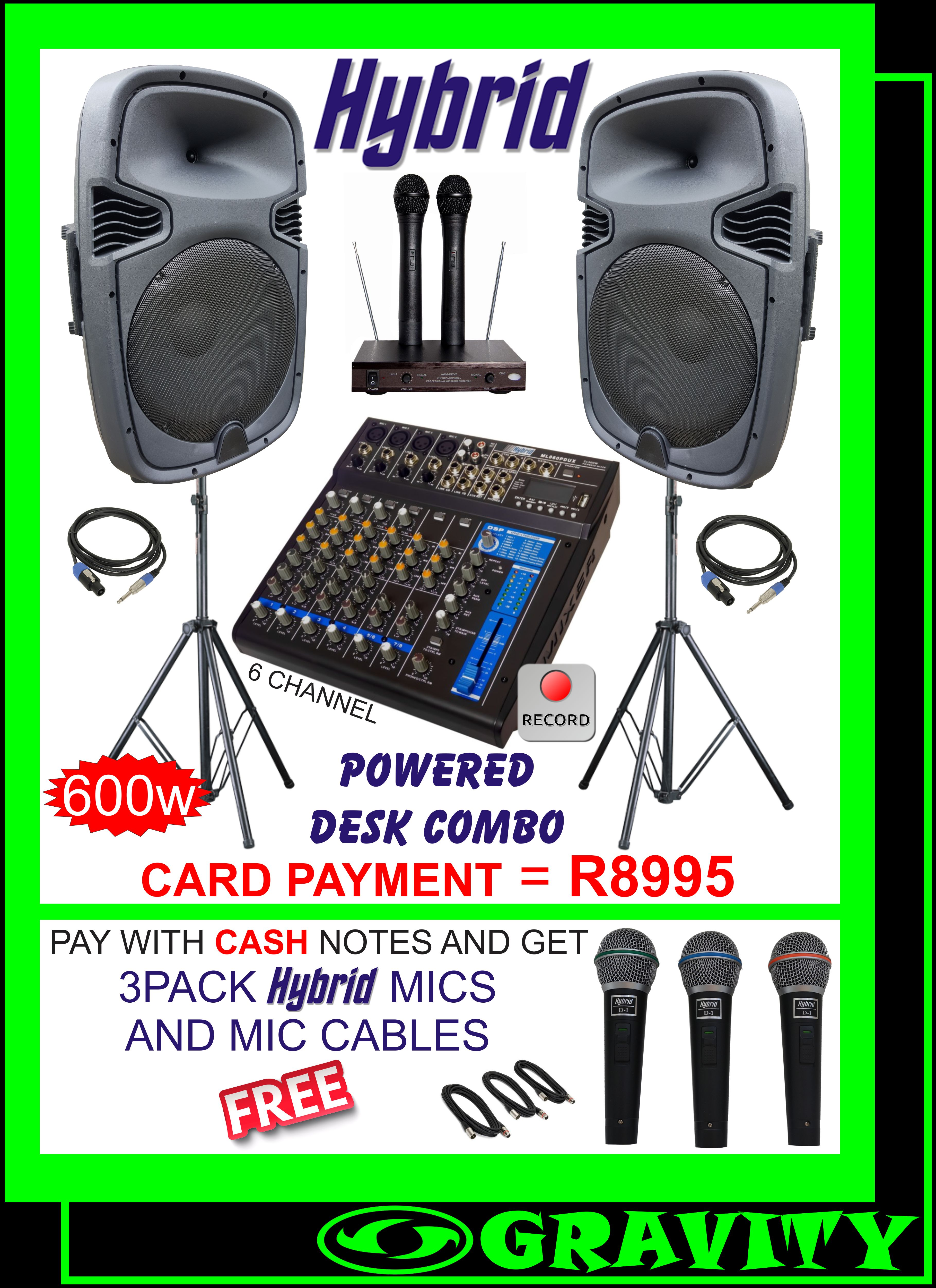 HYBRID DESK PA DESK COMBO LIVE RECORDING USB INPUT DURBAN GRAVITY SOUND AND LIGHTING WAREHOUSE 0315072463